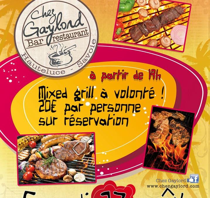 Soirée Mixed Grill le 27 août 2016