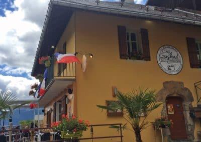 Le restaurant chez Gaylord et la terrasse