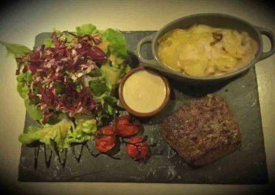 Filet de Boeuf avec gration maison et supplément sauce Beaufort
