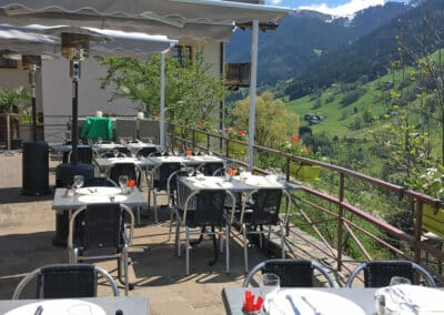 La terrasse en été du restaurant Chez Gaylord