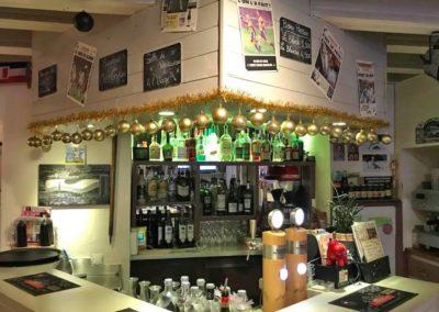 Déco de Noël au bar chez Gaylord