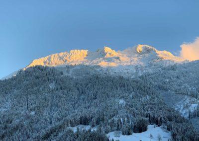 La montagne d'outray sous la neige